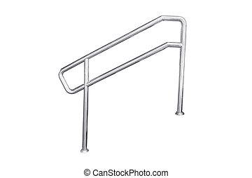 acier, sans tache, escalier, railing.