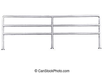 acier, sans tache, isolated., balustrade