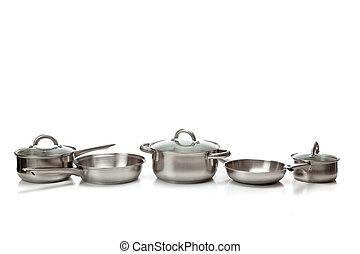 acier, sans tache, pots, casseroles