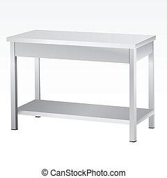 acier, sans tache, tables