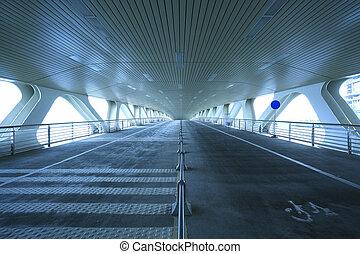 acier, structure, pont