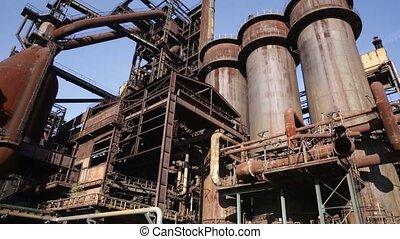 acier, tchèque, usine, vitkovice, dolni, république, vieux, ...
