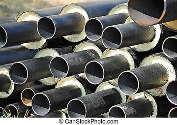 acier, tuyau, chaleur, isolation