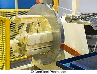 acier, usage, processus, sans tache, rouleau, machine, prêt, ;, rouler, bobine, froid, dessin