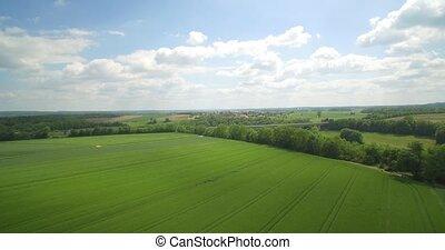 ackerland, deutsch, Luftaufnahmen, deutschland, Oben, flug,...
