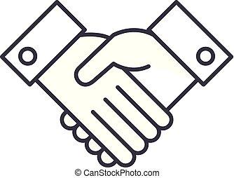 Acknowledge line icon concept. Acknowledge vector linear illustration, symbol, sign