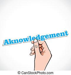 acknowledgement, mot