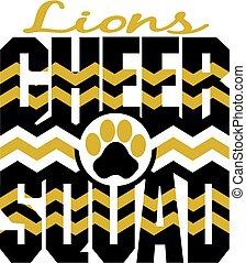 aclamación, leones, escuadra