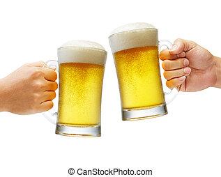 aclamaciones, con, cervezas