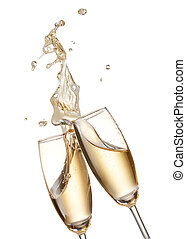 aclamaciones, con, champagnes