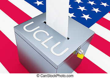 ACLU - constitutional concept - 3D illustration of ACLU...