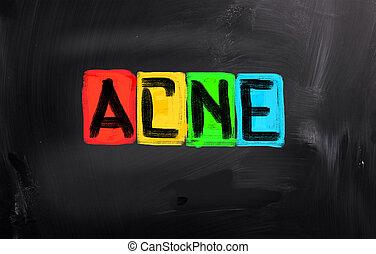 acné, concept