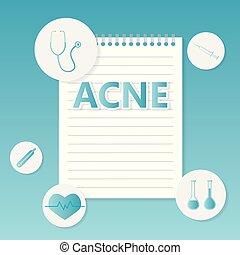 acné, concept médical