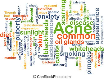 Acne background concept - Background concept wordcloud...
