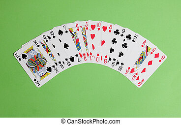 ACOL Contract Bridge Hand. With 12 to 14 points and a balanced hand ope