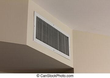 acondicionador, aire, cubierta, respiradero