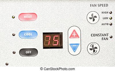 acondicionador, aire