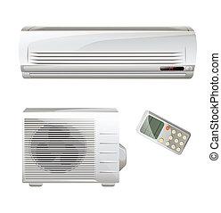 acondicionador, conjunto, aire