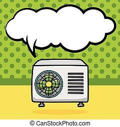 acondicionador de aire, garabato