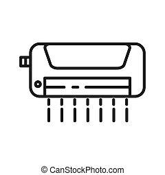 acondicionador de aire, vector, ilustración, diseño