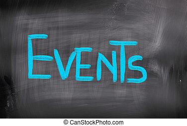 acontecimientos, concepto