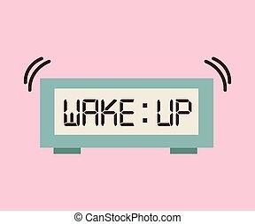 acordar, desenho, cima