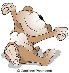 acorde-se, urso, pelúcia