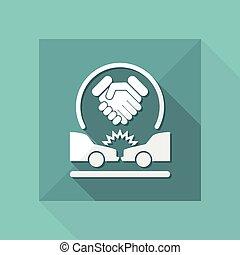 acordo, ligado, acidente estrada