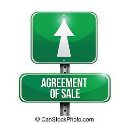 acordo, sinal venda, desenho, ilustrações, estrada