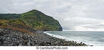 acores; west coast of flores island