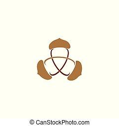 acorn atom vector illustration