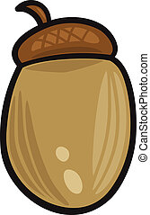 acorn clip art cartoon illustration