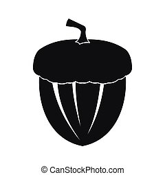 Acorn icon in simple style