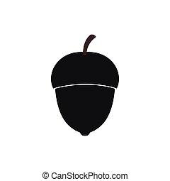 Acorn icon, simple style