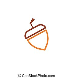 Acorn logo ilustration vector template - Acorn oak logo ...