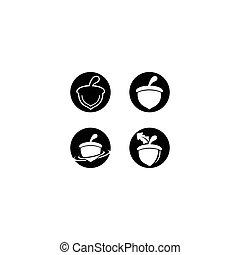 Acorn logo vector icon