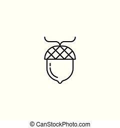 Acorn oak icon