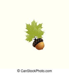 acorn symbol vector illustration