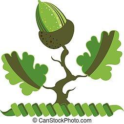 Acorn Vector green