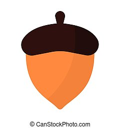 acorn with a brown color vector illustration design
