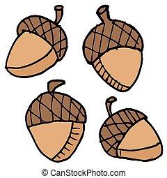 acorns cartoon