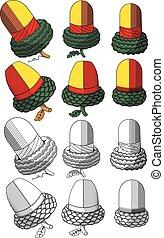 Acorns - Hungarian cards acorns