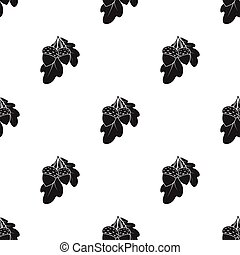 Acorns icon in black style isolated on white background. Canadian Thanksgiving Day pattern stock vector illustration.