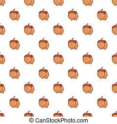 Acorns pattern, cartoon style