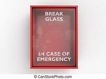 acostumbrar, caso, de, emergencia, caja roja
