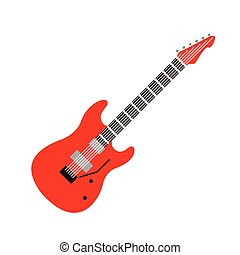 acoustic electric guitar vector icons isolated illustration guitars silhouette music concert sound retro musical bass object classic jazz