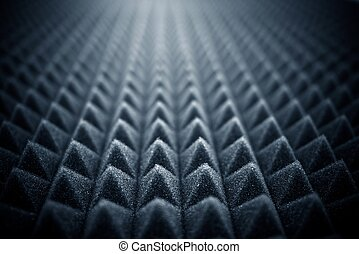 Acoustic Foam Concept Photo Background. Audio Foam.