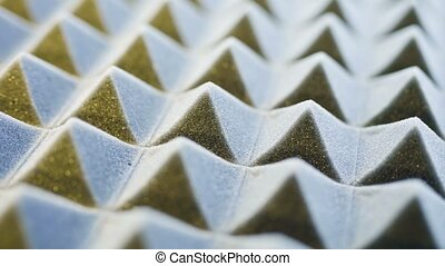 Acoustic foam panel background - Macro of acoustic foam...