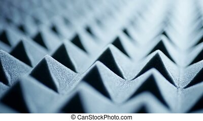 Acoustic foam panel background - Macro of acoustic foam...