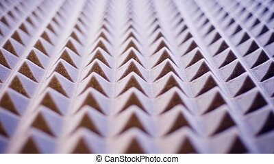 Acoustic foam panel background - Tonned sliding video of...
